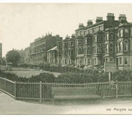 Historic image of Dalby Square gardens