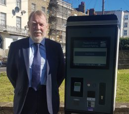 Leader of Thanet District Council launches new ticketless parking system in Margate
