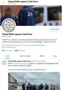 The MTF Twitter page
