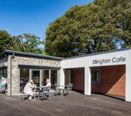 Exterior of Ellington Park Cafe - photography by Carlos Dominguez, Thanet Property Photography