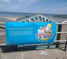 Welcome back beach banner